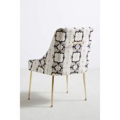 Anthropologie Minara-Printed Elowen Chair (€390) ❤ liked on Polyvore featuring home, furniture, chairs, dining chairs, upholstery furniture, anthropologie furniture, polish furniture, anthropologie and upholstery chairs