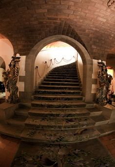 Hotel Fortaleza do Guincho. Stairway to the first floor.