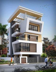 Modern house plans offer a great alternative to the more traditional styles.Unlike age-old properties, new apartments and homes are built to optimize the comfort of modern housing. Villa Design, Facade Design, Exterior Design, Modern House Plans, Modern House Design, Contemporary Architecture, Interior Architecture, Amazing Architecture, Building Design