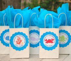 Under the Sea Collection - Fantastic Favor Bags from Mary Had a Little Party