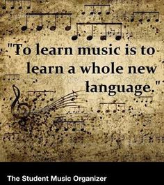 To learn music is to learn the universal language. Anyone who can read music can play with someone else that speaks a completely different language. Music is understood by everyone Motivacional Quotes, Music Quotes, Music Lyrics, Violin Quotes, Funny Quotes, Flute Quotes, Piano Quotes, Qoutes, The Power Of Music
