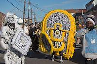 Mardi Gras Indians on Mardi Gras Day in New Orleans   Photo/ Video/ Reportage/ Art:  Julie Dermansky
