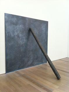 Richard Serra lead tube supporting lead sheet