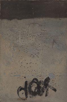 Antoni Tapies - Grey Relief with X (1955)