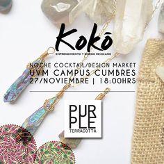 Purple Terracota se une como expositor en Kokó.  ¡Ven y conocenos!   https://www.facebook.com/purpleterracotta  #KokoEdm14 #moda #diseño #marketing #emprendimiento
