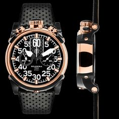 2408dbc1f05 From our Touring Collection   Rose Gold with Stainless Steel featuring  black face with lumi white details. CT Scuderia