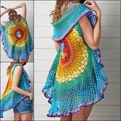 Crochet Circular Vest Pattern