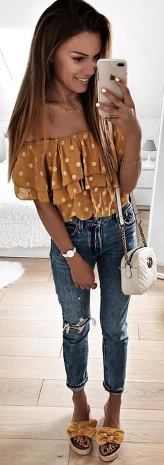 Cute off the shoulder blouse
