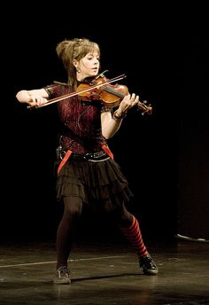 Lindsey Stirling playing at IdeaFestival 2011 Image by Geoff Oliver Bugbee
