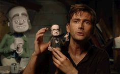 Quintessence of Dust — David Tennant with toys of himself From David's...