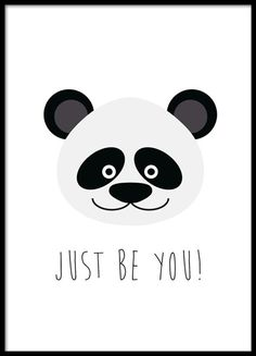 Grafik-Poster mit einem unglaublich niedlichen Panda. Passt in den Kindergarten , am besten zusammen mit anderen Kindern Plakate. www.desenio.de
