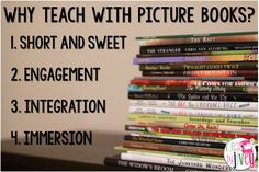 Picture books are not just for younger grades- this teacher shares four reasons why you should be reading picture books and gives examples!