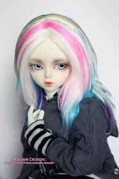 New wig on sale in our Etsy shop! Cool pastel rainbow!