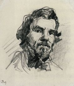 Portrait of Eugène Delacroix by: Paul Cézanne