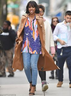 Book promo! On Friday, Kelly Rowland, 36, looked marvelous during a visit to CBS Studios in New York