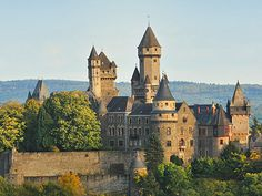 Braunfels Castle, Lahn Valley, Germany.