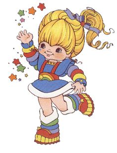 Rainbow Brite was a popular cartoon and toy from the '80's. She was a very cheerful character. The idea of the rainbow is prevalent throughout many time periods and genres.