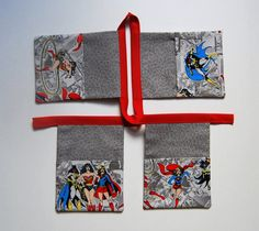 DC Heroines Pinboard Pockets by Foiledbyfelines on Etsy