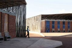 Completed in 2016 in Koudougou, Burkina Faso. Images by Iwan Baan. Located in the third most populated city in Burkina Faso, the Lycée Schorge Secondary School will not only set a new standard for educational. Vernacular Architecture, Urban Architecture, Futuristic Architecture, Sustainable Architecture, Architecture Photo, Amazing Architecture, Islamic Architecture, Sketchbook Architecture, Architecture Portfolio Examples