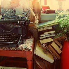 Sure would love to have a manual typewriter. I used one as a child, writing stories and poems on the farm, and the thumpety-thumpety-thumpety sound is very happy and comforting to me.