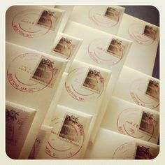 Hand-canceled stamps are a great way to finish hand-addressed envelopes.