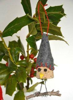 DIY Bird Wine Cork Ornament | Whimseybox