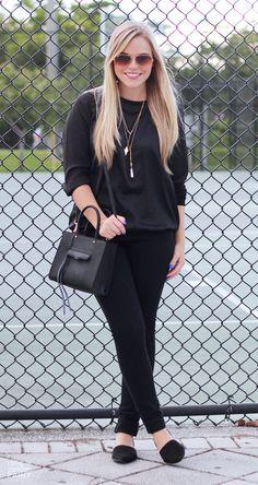 Sporty in Black {@expresslife #ExpressJeans}