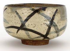 Tea bowl with design of pampas grass  by Ogata Kenzan (1663–1743; Chojiyamachi workshop)  Japan, Edo period,
