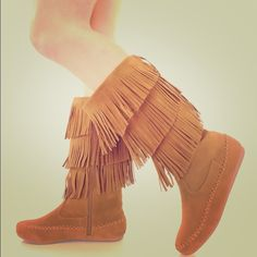 Candice Sassy 3 Layered Fringe Moccasin Boot This Candice Fringe Boot Is Perfect For Any Season or Any Outfit-!! Pair with some of our lace boot toppers and your fav pair of leggings and long cozy sweater dress for that classy but sassy touch. Very lightweight, synthetic material, they break in and wear well. NOTE: Message US SIZE NEEDED for purchase. Our New Years Scarf Bracelet Is included complimentary with each purchase ladies!! Happy New Year 2016 Forever Fashion Is Our Passion Shoes
