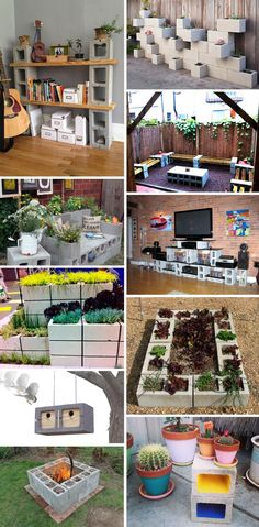 20 DIY decor with breeze blocks Backyard Projects, Outdoor Projects, Garden Projects, Home Projects, Outdoor Decor, Front Yard Landscaping, Home Crafts, Outdoor Gardens, Garden Design