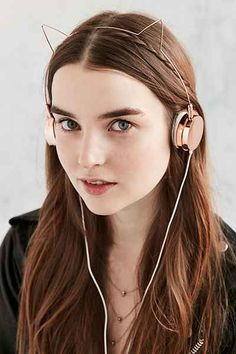 Kitten Rose Gold Headphones - UrbanOutfitters.com: Awesome stuff for you & your space