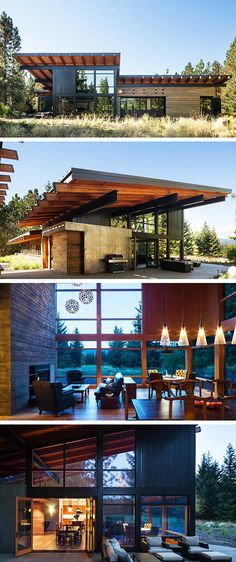 Modern Architecture - The Tumble Creek Cabin is a recent project by Coates Design Architects, a studio already featured on our site for their Dorsey Residence project, located in the small town of Cle Elum, about a drive east of Seattle, Washington. Residential Architecture, Amazing Architecture, Interior Architecture, Architecture Student, Architecture Websites, Computer Architecture, French Architecture, Town Country Haus, Espace Design