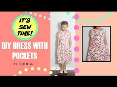 THE EASIEST DIY  DRESS WITH POCKETS FOR ALL AGES