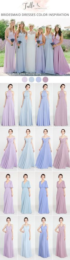 trending bridesmaid dress color ideas for spring 2018 #bridesmaiddresses #dustyrose #bridesmaid #weddingtrends2018 #wedding #weddingcolors