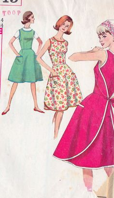 1960s Misses Back WrapAround Dress