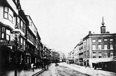 Long Row East, Nottingham, 1880s.