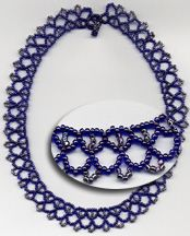 Simple Lace Necklace Pattern at Sova-Enterprises.com. Lots of FREE beading patterns and instructions are available!