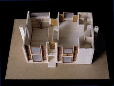 The Esherick House by architect Louis I. Kahn was built in Philadelphia, Pennsylvania, United States in Maquette Architecture, Art And Architecture, Esherick House, Louis Kahn, Taking Shape, Architectural Models, Ark, Rome, September