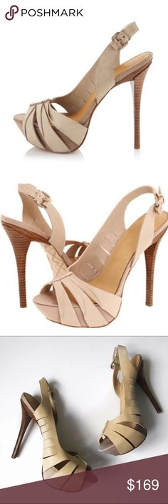 ➡️L.A.M.B. Kam Nude Slingback Heels⬅️ L.A.M.B. sets its sights to entice with dramatic slits and sensual half d'Orsay shape.  Featuring grosgrain covering the platform beneath the oh-so-supple leather, folded detail on the outer front straps, leather soles, adjustable heel straps with elastic for comfort & leather covering on the buckles. Worn once briefly.  Leather. Open toe reveals covered platform. Offers welcome. Take 30% off your entire purchase automatically at checkout when you use…