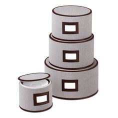 The Container Store Eco-Fabric Round Plate Storage Cases  sc 1 st  Pinterest : dinnerware storage cases - pezcame.com