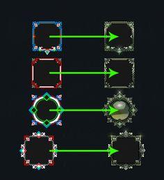 参考 Level Design, Game Ui, Painting Tutorials, Badge, Frame, Picture Frame, Badges, A Frame, Frames