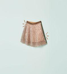 Image 1 of SEQUINNED SKIRT from Zara
