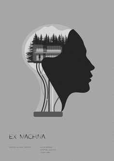 Ex Machina (2015) ~ Minimal Movie Poster by Matt Needle ~ Oscar 2016 Nominess #amusementphile Dark City, Minimalist