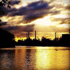 Glorious sun  #sunshine #gloriouslight #goldenyellow  #citysilhouette  #october #valkeakoski #myhometown #finland #myhomeland