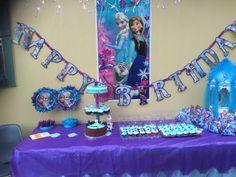 Anna and Elsa's cake I made