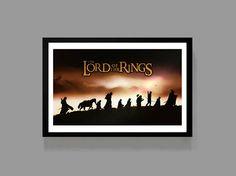 LOTR: Custom Poster - Journey Movie Print - Fantasy / Drama Film JRR Tolkien Froto Bilbo Baggins Gandolf gollum by MusicAndArtCoUSA on Etsy