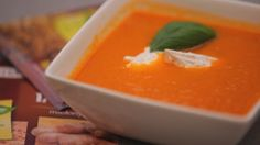 Tomato Soup With Goat Cheese Tomato Soup, Goat Cheese, Thai Red Curry, Ethnic Recipes, Food, Soups, Tomato Soup Recipes, Meals, Soup