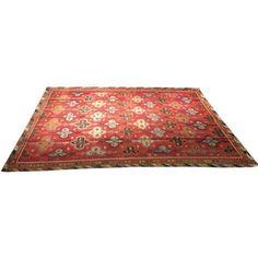 "Antique Turkish Kilim Rug - 9' x 12'4"" ($4,700) ❤ liked on Polyvore featuring home, rugs, tribal area rugs, kilim area rugs, tribal rug, anatolian kilim rug and kilim rugs"