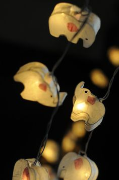 Brand new Elephant paper lantern string light This is a beautiful string light decoration made from mulberry paper and wire. It is recommend to use