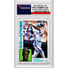 Darryl Strawberry New York Mets Fanatics Authentic Autographed 1983 Topps #182 Rookie Card with MLB Debut 5/16/83 Inscription - $129.99